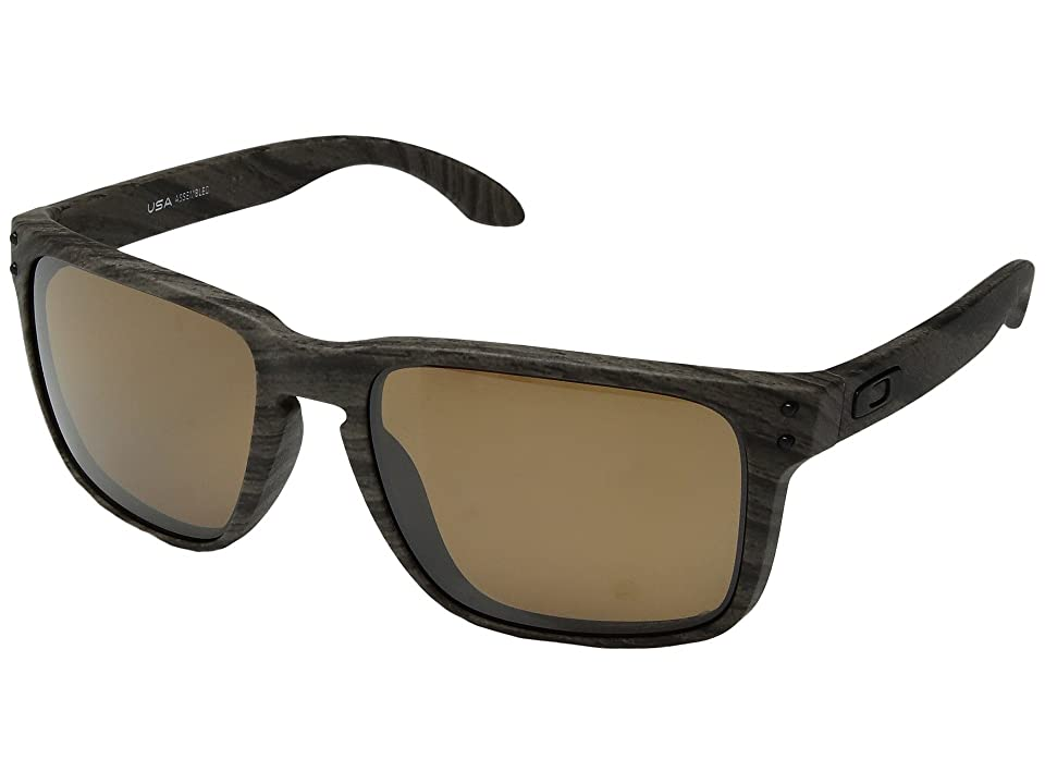 Oakley Holbrook XL (Woodgrain w/ Prizm Tungsten Polarized) Athletic Performance Sport Sunglasses