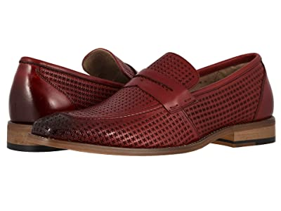Stacy Adams Belfair Moc Toe Slip On Loafer (Red) Men