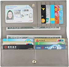Lavemi RFID Blocking Ultra Slim Real Leather Credit Card Holder Clutch Wallets for Women