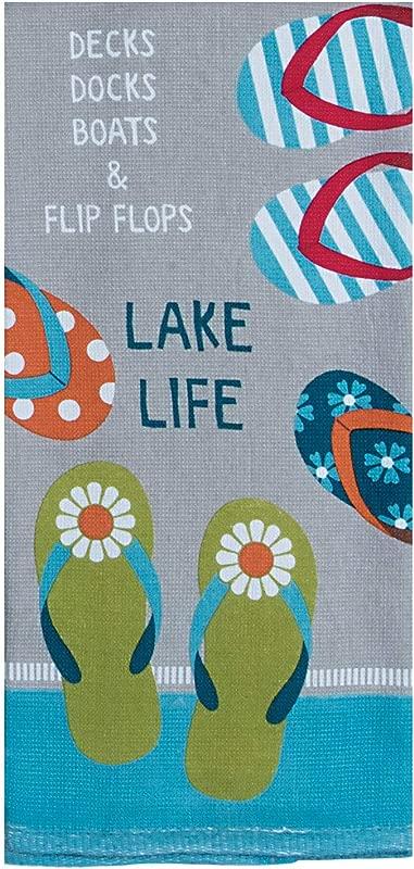 Kay Dee Designs Lake Life Flip Flops Dual Purpose Terry Kitchen Towel 16 X 26 Various