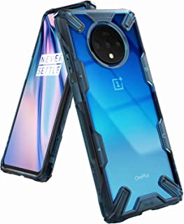 Ringke Fusion-X Designed for OnePlus 7T Case Back Cover, [Military Drop Tested] Ergonomic Transparent PC Back TPU Bumper Impact Resistant Protection for OnePlus 7T Back Cover Case (2019) - Space Blue