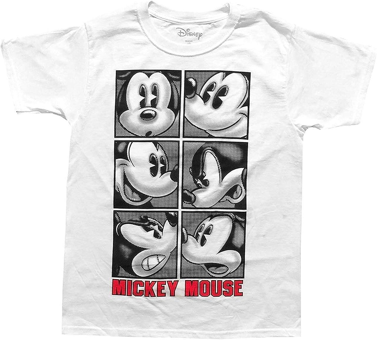 Disney Mickey Mouse Tee Attitude Youth Boys T Shirt White