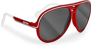 BERTONI - Gafas para Niños - Polarizadas - 4-10 años - 100% Protección UVA-UVB - Unisex Fashion Retrò - P Kid (Red-White/Polarizadas Gris)