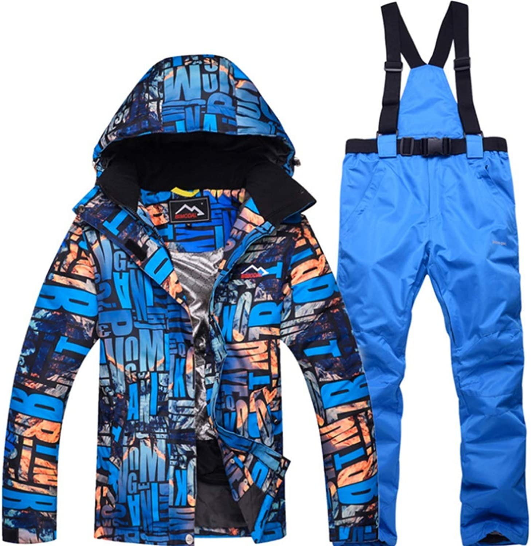 Carriemeow Womens Waterproof Ski Jacket and Pants Set for Rain Snow