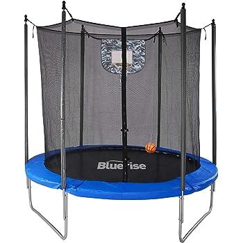Bluerise Easy to Assemble 6 Feet Kids Trampoline with Enclosure Basketball Hoop Net Trampoline for Kids Trampoline Park Safety Pad Toddler Trampolines Kindergarten Indoor