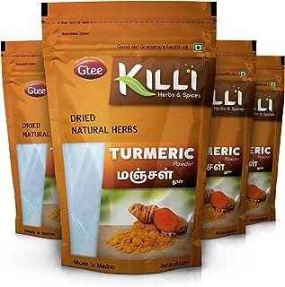 KILLI Turmeric | Manjal | Haldi | Pasupu | Curcuma longa | Arishina Powder, 100g (Pack of 4)