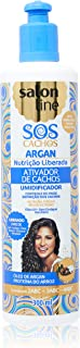Linha Tratamento (SOS Cachos) Salon Line - Ativador de Cachos Argan Nutricao Liberada 300 Ml - (Salon Line Treatment (SOS Curls) Collection - Nourishing Release Argan Curl Activator 10.14 Fl Oz)
