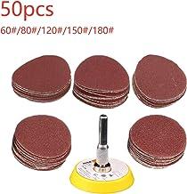 1pc placa de gancho en forma de Dremel 50 unids 2 pulgadas papel de lija circular rojo 60//80//120//150//180 pulido abrasivo boquillas de molienda