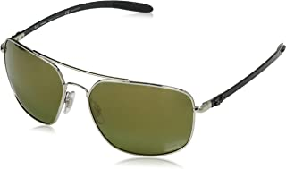 Men's RB8322CH Chromance Mirrored Square Sunglasses
