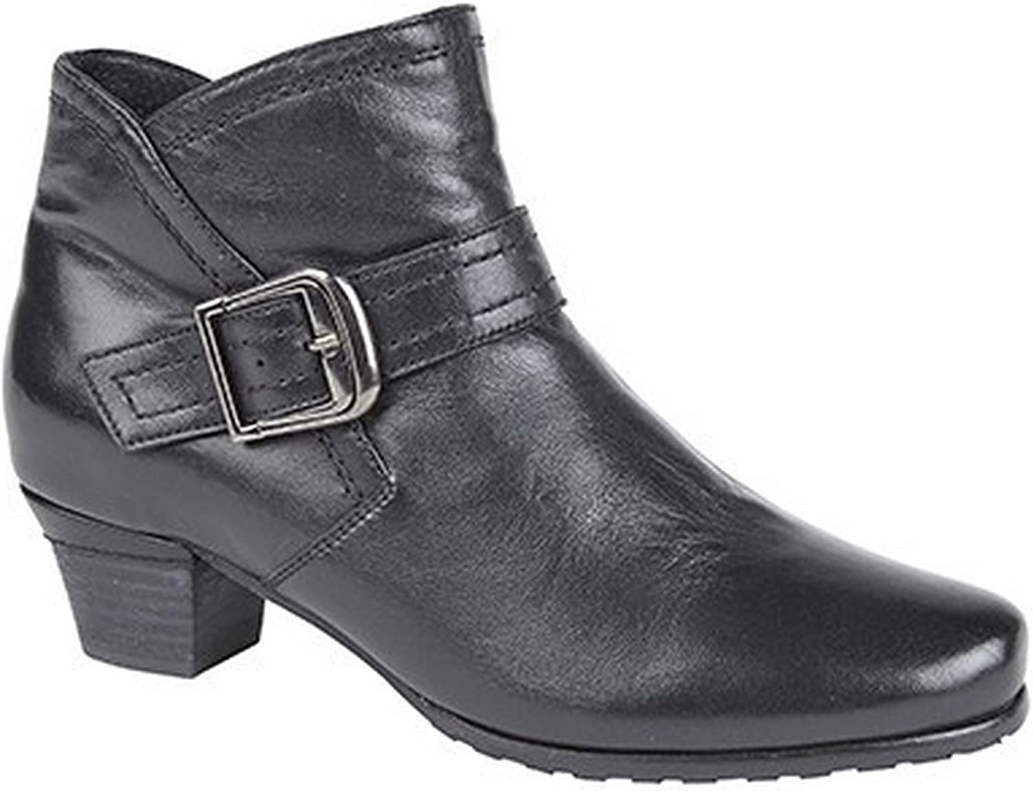 Mod Comfys Womens Ladies Softie Leather Buckle Ankle Boots