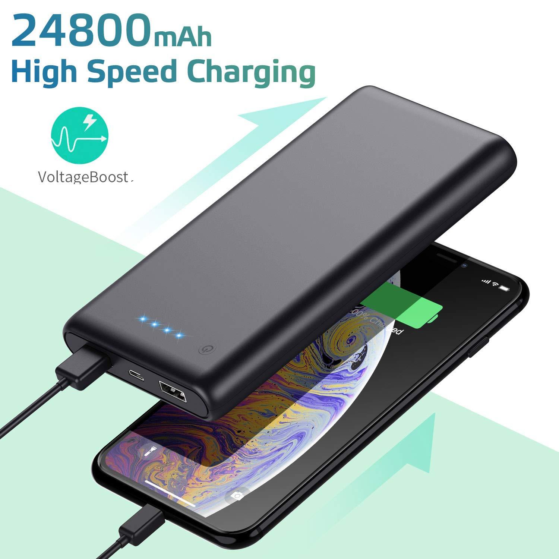 HETP Batería Externa para Móvil 24800mAH Power Bank Ultra ...