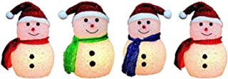 Christmas Set of 4 Snowman Pathway Markers Indoor and Outdoor Decorations …