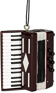 Broadway Gift Red Accordian Hanging Ornament,Brown,3in H