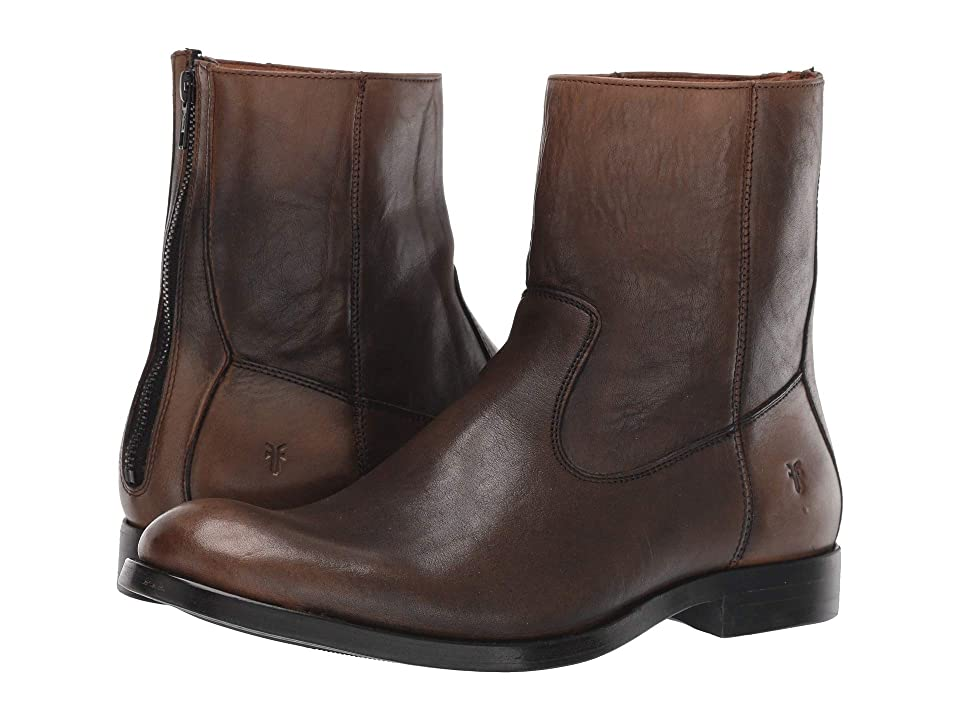 56fb61035 Frye Jacob Back Zip (Stone Veg Crust) Men s Dress Zip Boots