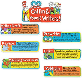 Eureka Back to School Dr. Seuss Motivational Writing Bulletin Board and Classroom Decorations, 6.5''x0.1''x26'', 7 pc