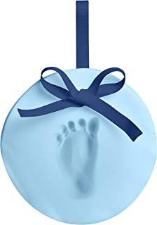 Pearhead Easy-to-Create Babyprints Baby Handprint or Footprint Ornament Kit with Ribbon, Creative Holiday Gift or Special Year-Round Keepsake, Blue
