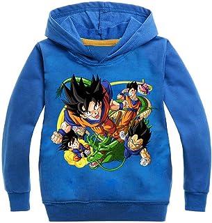 Silver Basic Sudadera con Capucha Unisex Anime Dragon Ball Z Son Goku Kakarotto Jumper para Niños y Niñas