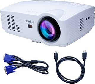 Projector, Video Projector HD 1080P Portable LED 3200 Lumens 1200X800 Home Theater Projector for Home Cinema /Video Games /Movie Night (White)