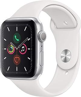 Apple Watch Series 5 (GPS, 44 mm) Aluminio en Plata - Correa Deportiva Blanco