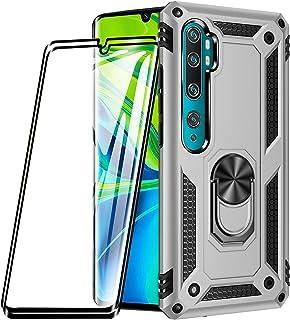 XIFAN Funda para Xiaomi Mi Note 10/Note 10 Pro + [2 Pack] Vidrio Templado, [Funciona con El Montaje De Coche Magnético] De...