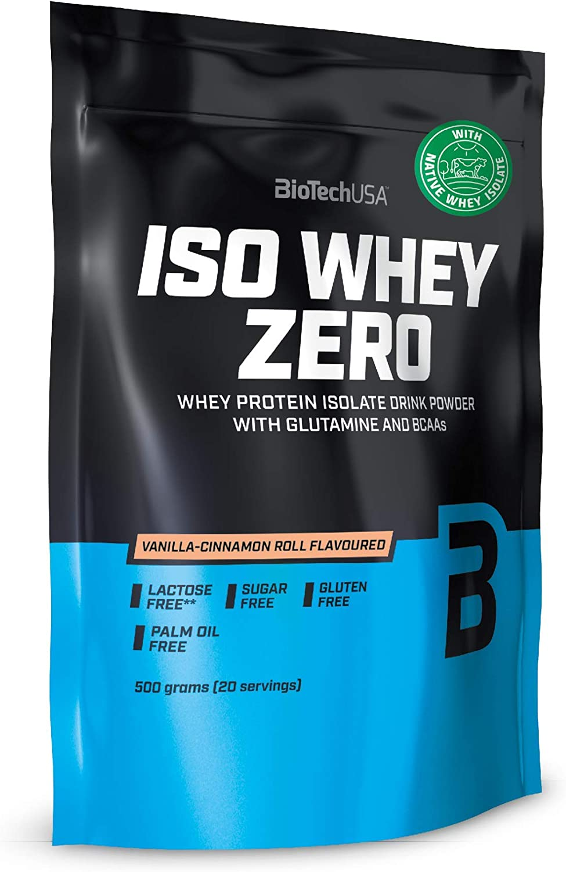 BioTech IsoWhey Zero Proteínas de Suero de Leche, Sabor Pan de Jengibre - 500 gr