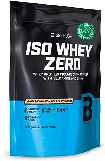 BioTechUSA Iso Whey ZERO, Lactose, Gluten, Sugar FREE, Premium Whey Protein Isolate, 500 g, Vanilla-Cinnamon Roll