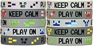 Gypsy Jade's Video Game 8-Bit Pixel Style Wristbands - Great for Mining Themed or any Crafting Style Video Game - Pack of 10!