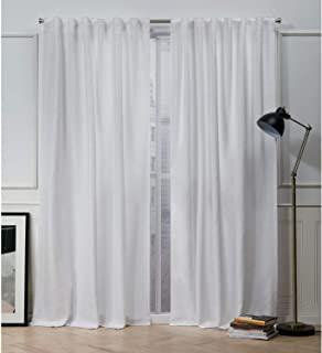 Nicole Miller Mellow Slub Hidden Tab Top Curtain Panel, Winter, 54x96, 2 Piece