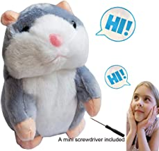 Pet Talking Hamster Toy Animal Talking Toys Repeats What You Say Interactive Plush Toys for Boys and Girls