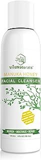 Wild Naturals Face Wash, With Organic Aloe Vera + Manuka Honey, for Acne, Dry, Damaged, Sensitive Skin. Perfectly pH Balanced Facial Cleanser 4oz
