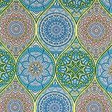 Dekostoff Mandala türkis Canvasstoffe Dekorationen