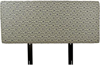 MJL Furniture Designs Alice Collection Cott-Ashton Series Fabric Upholstered Padded Contemporary Styled Bedroom Décor, Full Size, Wedgewood/Gray/Tan/Blue