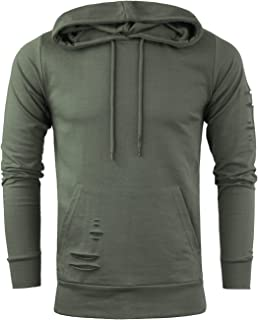 8de545ae5 Brave Soul Mens Designer Distressed Style Hooded Sweatshirt New Sizes S-XL