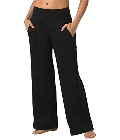 Prana Sunrise Wideleg Pants (Solid Black) Women