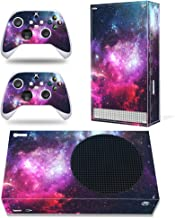 Whole Body Protective Vinyl Skin Decal Cover for Microsoft Xbox Series S Console, Purple Starry Sky Xbox Series S Skins Wr...