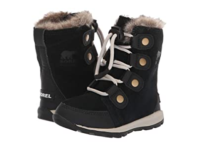 SOREL Kids Whitneytm Suede (Toddler/Little Kid) (Black/Dark Stone) Girls Shoes