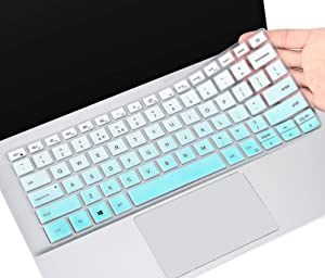 Keyboard Cover for Dell Vostro 14 5000 5401, Dell Inspiron 13 7300 7306 7390 7391 5300 5301 5390 5391,Insprion 14 5000 2-in-1 5400 5405 5406 5490 5493 5498 7000 7400 7405 7409 7490, Ombre Mint