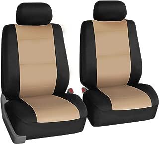 FH Group FB083102 Neoprene Waterproof Car Seat Covers, Pair Set Buckets Airbag Ready-Beige