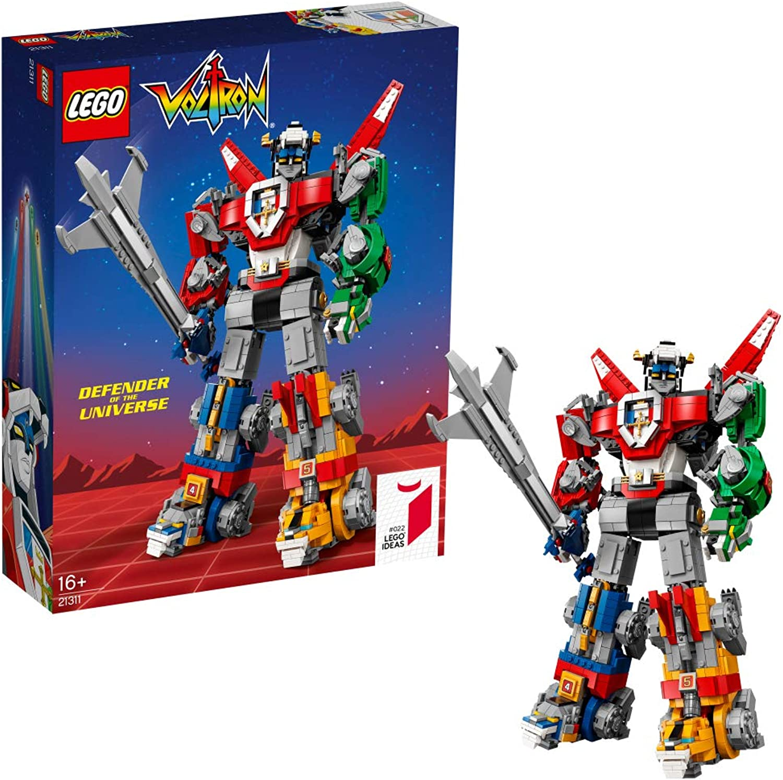 LEGO 21311 Ideas Voltron Legendary Defender Series 5 Buildable Lion Figures, Robot Building Kit, Action Toys