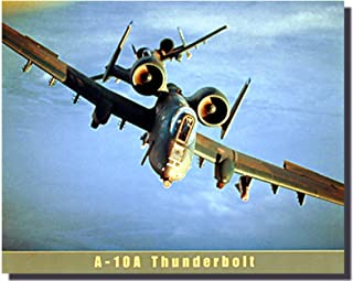 Aviation Wall Decor Picture Airforce A-10A Thunderbolt Airplane Vintage Art Print Poster (16x20)