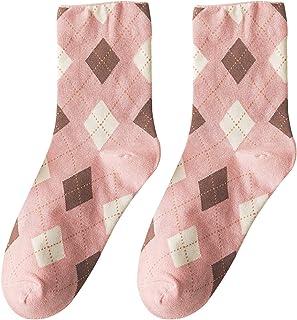 Vobery, Calcetines de Tripulación,Calcetines de Tubo Medio de Moda para Mujer,Calcetines de Algodón con Cojín,Calcetines Deportivos para Caminar,Caminar Y Caminar Al Aire Libre