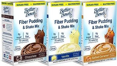 Better Bowls Sugar Free Chocolate, Vanilla and Salted Caramel Variety Pudding (Pack of 6)