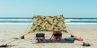 Neso 帐篷沙滩帐篷,带沙锚,便携式遮阳罩 - 17.78 厘米 x 17.78 厘米 - 获得*的加固边角