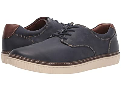 Johnston & Murphy Walden Casual Plain Toe Sneaker (Navy) Men