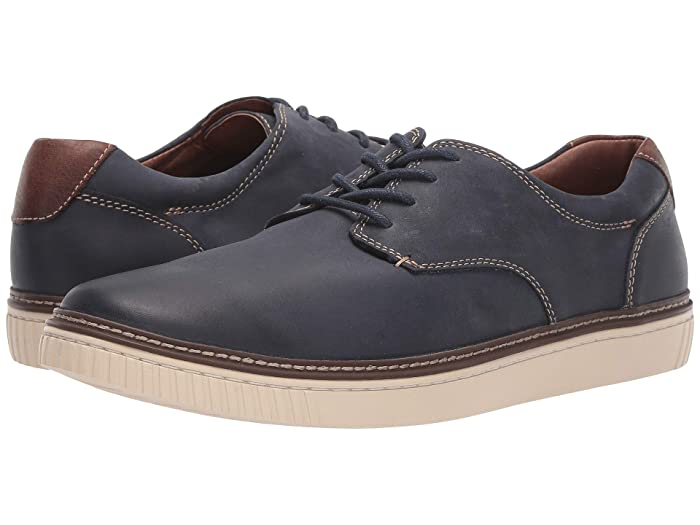 Johnston and Murphy  Walden Casual Plain Toe Sneaker (Navy) Mens Shoes