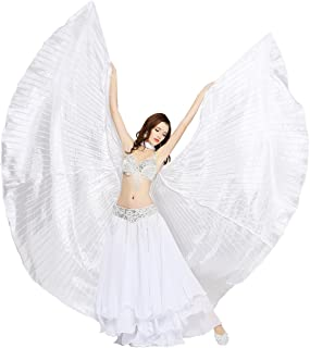 Dance Fairy Belly Dance Silk-Like Isis Wings with Sticks