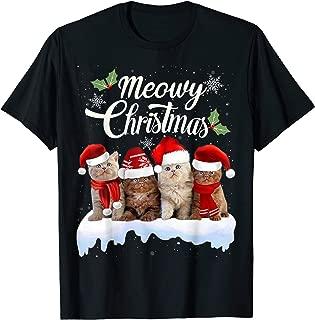 Meowy Christmas Tee Kitten Cat Kitty Xmas Cute Gift T-Shirt