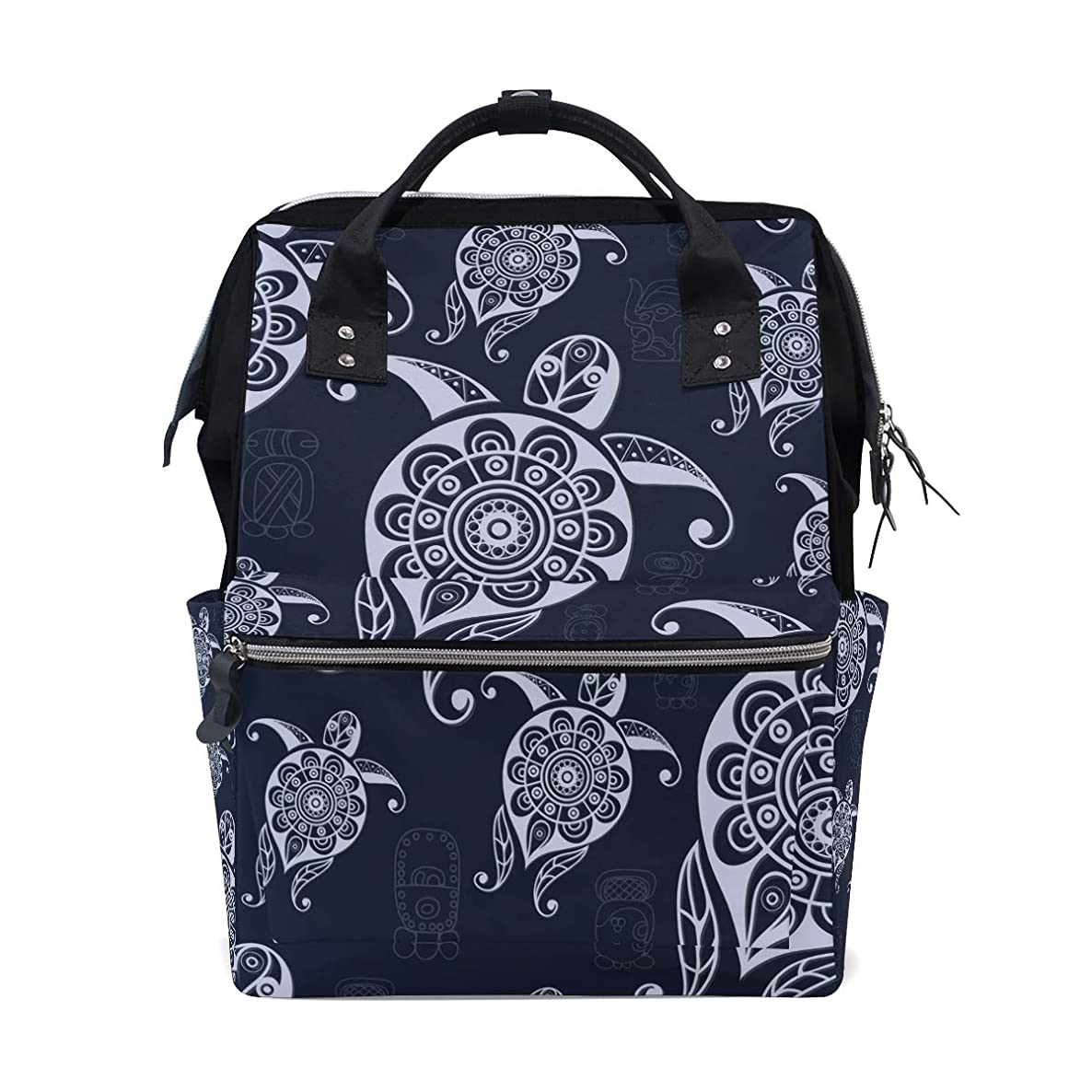 Boho Sea Turtle Tortoise School Backpack Large Capacity Mummy Bags Laptop Handbag Casual Travel Rucksack Satchel For Women Men Adult Teen Children