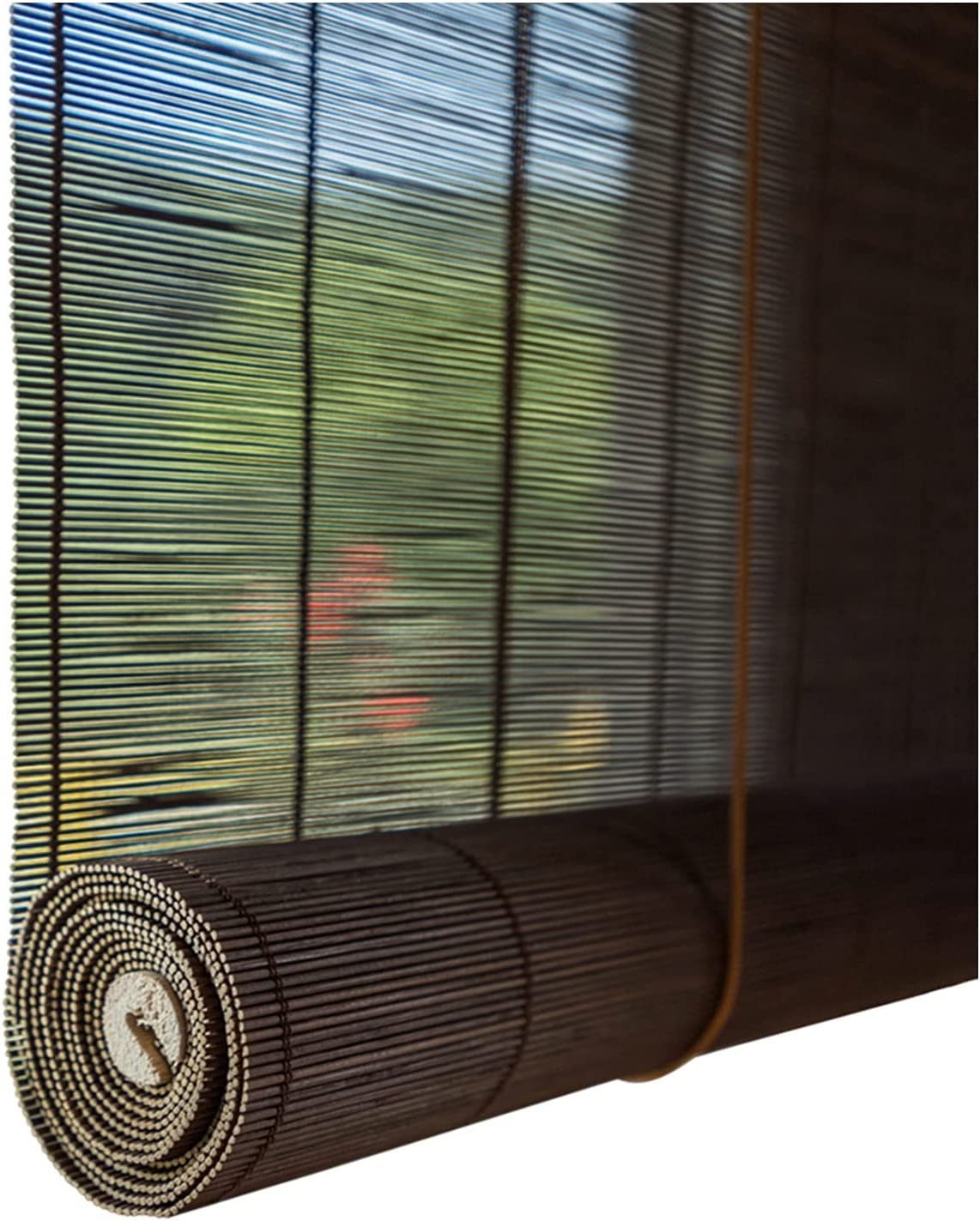CHHD Bamboo Roller Blind Hand-Woven Spring new work one after Louisville-Jefferson County Mall another Anti-UV Retro Divider Room