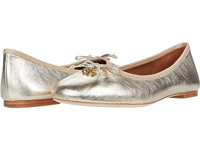 Tory Burch Tory Charm Ballet (Spark Gold/Spark Gold) Women